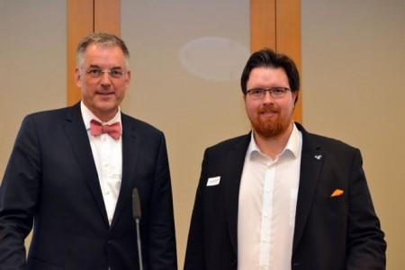 Gerd Hoppe (Beckhoff Automation, links) und Dr. Felix Oestersötebier (WP Kemper) referierten über maschinelles Lernen.