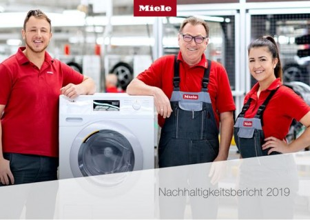 Miele veröffentlicht seinen Nachhaltigkeitsbericht 2019 auf www.miele.com/nachhaltigkeit..Foto:Miele