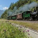 Dampffahrt auf einer der schönsten Alpen-Bahnstrecken am 3. August 2019