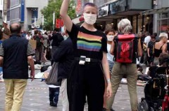 In der gesamten Dortmunder Innenstadt machten die Aktivisten auf sich aufmerksam.