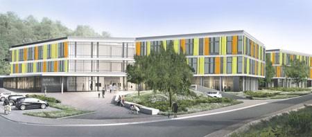 So könnte es aussehen, das neue Kinderzentrum Bethel – die Fassadenfarben stehen noch nicht endgültig fest. (Bild: Bethel)