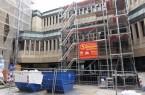 Teilweise eingerüsteter Neubau (Pressestelle der Stadt Minden)