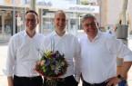 Der neue Flora-Geschäftsführer, Sebastian Siefert (Mitte), wurde von Bürgermeister Theo Mettenborg und dem Aufsichtsratsvorsitzenden Uwe Henkenjohann willkommen geheißen.
