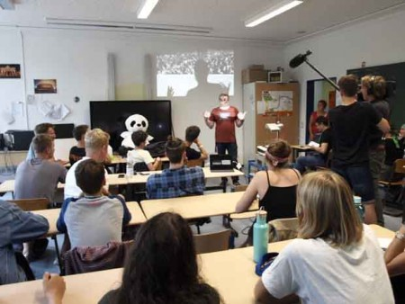 Die Workshops fanden in den Klassenzimmern statt.