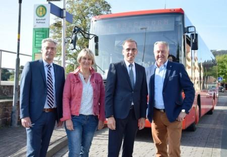 Stefan Fellmann, Claudia Pelz-Weskamp, BM Alexander Fischer, Jürgen Knabe, Foto: Stadt Höxter