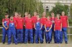Die neuen Auszubildenden bei Mitsubishi HiTec Paper, Werk Bielefeld.