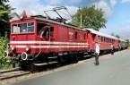 Abfahrt am Teddybär-Fahrtag in Bösingfeld - Der Historische Heckeneilzug der Landeseisenbahn Lippe startet am 6. Oktober um 10:00, 12:30 und 15:00 Uhr am Bahnsteig. Foto: Michael Rehfeld