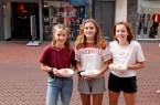 Franka Dobschall (12), Mia Bembenneck (14) und Lilli Keisinger setzen sich gern  für  die Umwelt ein. (Copyright: Gütersloh Marketing)