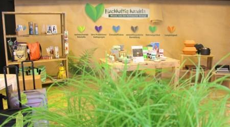 Nachhaltigkeitsfläche auf der EK LIVE Herbstmesse. Foto: EK service group