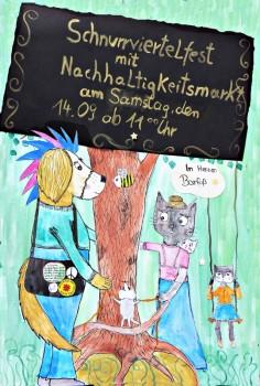 Plakat: Schnurrviertelfest, Foto: Welthaus Minden