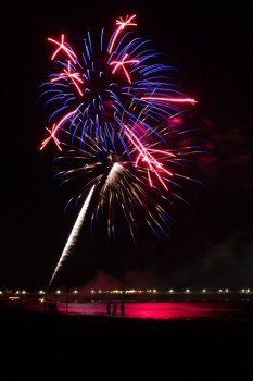 Feuerwerk am Nationalfeiertag Tag der Deutschen Einheit, Foto: Andreas Dumke