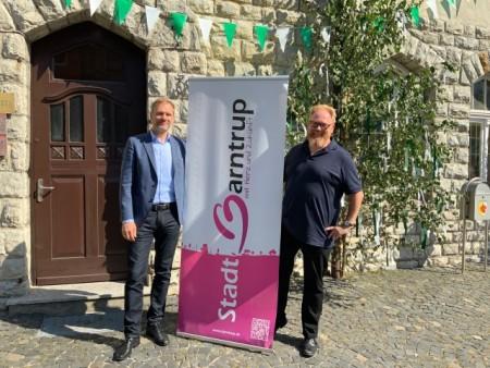 Bürgermeister Jürgen Schell und Lars Cohrs, Foto: Stadt Barntrup