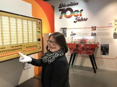 Viel Musik aus der Jukebox erwartet die Besucherinnen und Besucher in der 70er -Jahre AusstellungDeutsches Automatenmuseum – Sammlung, Foto: Deutsches Automatenmuseum