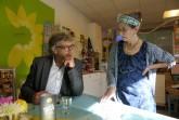 Bürgermeiser Jäcke und Birgitt Stockinger im Austausch, Foto: Stadt Minden