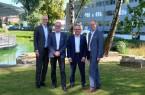 (v.l.n.r.) Rainer Müller, Andreas Jastrzembowski, Dr. Martin Schreer und Martin Uekmann freuen sich über die weitere Zusammenarbeit.