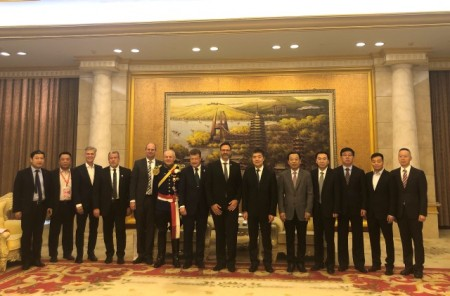 Empfang der Mindener Delegation im Rathaus von Changzhou, Foto: Stadt Minden