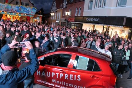 Gewinner Verlosung, Moritzmarkt, Foto: Stadt Büren
