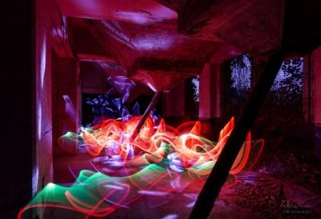 Light Art P. im Maxipark, Foto: Olaf Kerber