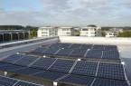 Eine der Maßnahmen im Rahmen des Klimaschutzkonzeptes ist die Installation von Solaranlagen am Verwaltungsstandort Hoppenhof. Foto: Stadt Paderborn, Marie Grevel
