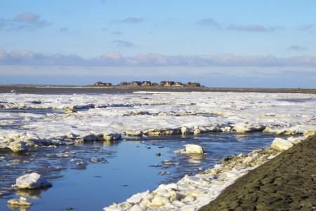 Hallig Hooge im Winter, Foto: Nordsee - Tourismus
