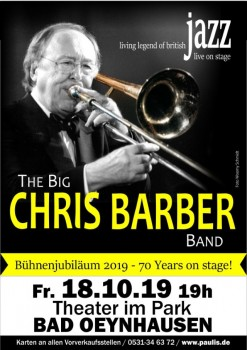 Chris Barber - Flyer, Foto: Paulis das Veranstaltungsbüro
