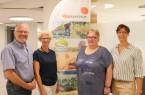 Das Organisations-Team des Dorfwettbewerbs: Thomas Cleve, Birgit Griese-Lödige, Anke Rabe und Isabelle Hebrock-Hugenberg (von links). Foto: Kreis Lippe