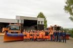 Für die Besprechung der Winterdienstsaison 2019/2020 kam das gesamte Team zusammen. Foto: Kreis Lippe