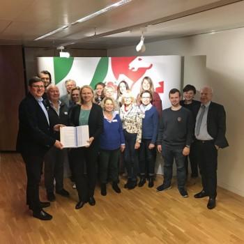 Arbeitsgruppe Europa-Erklärung zu Besuch in der Landesvertretung NRW in Brüssel, Foto: pro Wirtschaft GT
