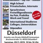 AUF IN DIE WELT Messe – Die Schüleraustausch-Messe – am 09.11.2019 in Düsseldorf
