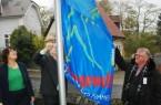 Fahne hissen gegen Gewalt an Frauen und Kinder, Foto: Stadt Herford