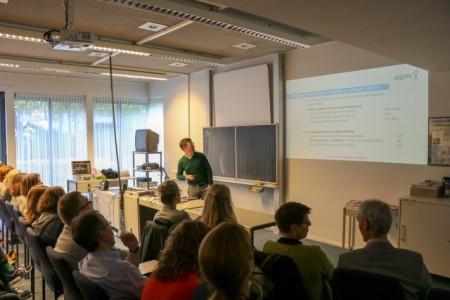 Patrick Fuchs informierte über das neue Pflegeberufegesetz, Foto:  Agentur f Arbeit