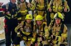 Die Feuerwehrmänner nach ihrem Charity-Lauf an der Universität Paderborn im Jahr 2018.Foto: Firefighter OWL