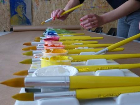 Workshop mit Claria Stiegemann, Foto: Diözesanmuseum Paderborn