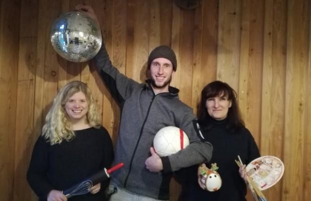 Jugendtreff Advent und Winter Jennifer Fröhlich, Peter Kamischke-Funk und Iwona Lokaj, Foto: Stadt Höxter