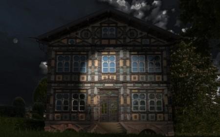 Junkerhaus bei Nacht, Foto: Stadt Lemgo