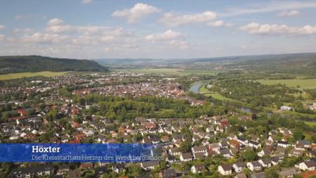 Impression: Luftansicht Höxter, Foto: Stadt Höxter