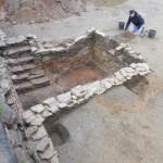Abgebrannt bis auf den Keller: Archäologen entdecken mittelalterliche Häuser in Steinheim