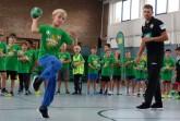Tipps und Tricks für die richtige Wurftechnik gibt es beim AOK Star-Training direkt vom DHB-Bundestrainer Christian Prokop. Foto: brand unit berlin/hfr.