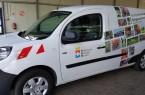 Zwei Fotos von einem elektrisch betriebenen Fahrzeug bei der Städtischen Betrieben Minden (Bild: Städtische Betriebe Minden)
