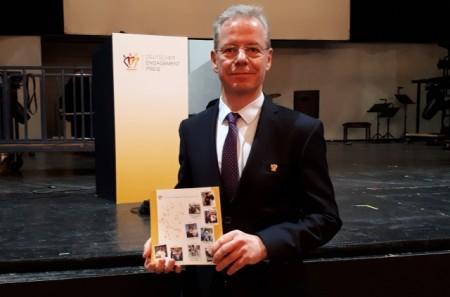 Eckhard Rüter bei der Preisverleihung, Foto: Stadt Minden