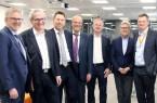 (v.l.n.r.) Thomas Lammering (Stadt Detmold), Rolf Merchel (GILDE), Frank Hilker (Stadt Detmold), Rainer Heller (Stadt Detmold), André Sombecki (Weidmüller), Helmut Merwitz (Merwitz Architekten) und Jörg Timmermann (Weidmüller)