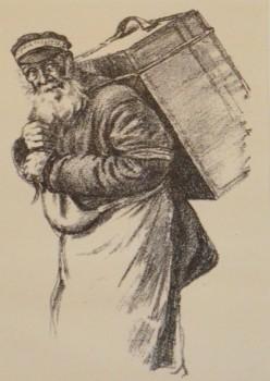 Hermann Struck, Gepäckträger (Copyright: Helmut Zimmermann/Jüdisches Museum Westfalen)