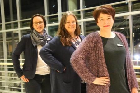 Das Team der BIGS (v. l.): Diana Ortkras, Jenny von Borstel und Katja Prause. Foto: Kreis Gütersloh