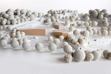 Modell des neuen Gebäudes des LWL Freilichtmuseums