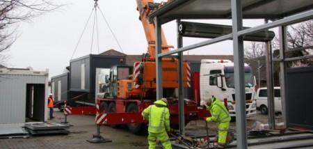Container für Rettungswache Clarholz eingetroffen, Foto: Kreis Gütersloh