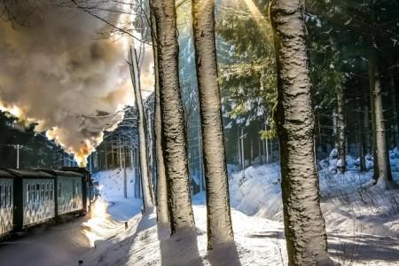 Auch die Dampfbahnen der Region laden zu winterlichen Ausflügen ein.
