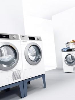 """Saubere und trockene Wäsche in kurzer Zeit, auf kleinem Raum und jetzt zum attraktiven Preis: Die neuen Aktionsmodelle """"Evolution"""" sind ab Anfang April ein halbes Jahr verfügbar. Foto: Miele"""