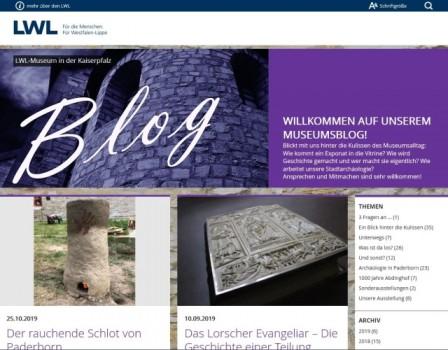 In einem Blog können die virtuellen Besucherinnen der drei archäolo-gischen Museen des LWL, wie hier beim LWL-Museum in der Kaiserpfalz in Paderborn, einen Blick hinter die Museumskulissen werfen. Foto: LWL