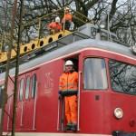 Extertalbahn: Frischzellenkur der 93-jährigen Fahrleitungsanlage im Zeitplan