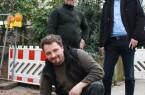 (von links): Jonathan Haeger (kniend); Ruben Wächter; Mathias Dreimann (Foto: Agentur für Arbeit Detmold)